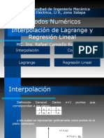 Interpolación y Regresión Lineal
