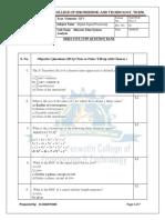 DSP Objective unit 2 eee