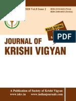 Journal of Krishi Vigyan Vol 8 Issue 2