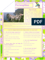 Ferienplane 3 Arbeitsblatter Leseverstandnis 26274