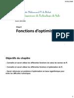 6Fonctions d'optimisation