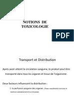 Notions de Toxicologie