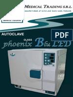 Autoclave Phoenix Blu LED 18-24 LITRE FR-EN