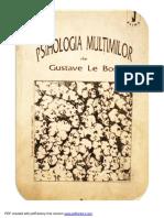 Gustave Le Bon-Psihologia Multimilor (1)