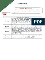 Tipos de texto e outros