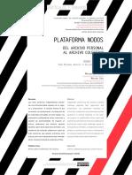 Plataforma NODOS. Del archivo personal al archivo colectivo