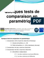 Tests de Comparaison de Moyennes Param
