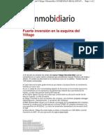 Inmobidiario - 14-08-10  - Fuerte inversion en la esquina del Village