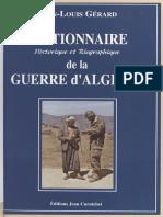 Dictionnaire historique guerre dAlgérie