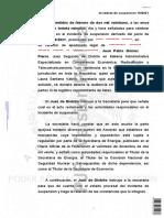 Sentencia suspensión definitiva acuerdo importación de hidrocarburos