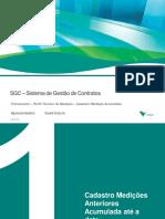 Treinamento Tecnico de Medição SGC - Inserir medição acumulada anterior