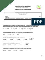 Examen de Matemáticas III