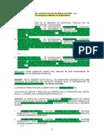 3.-MODELO DE MINUTA DE CONSTITUCIÓN DE SOCIEDAD ANONIMA – S.A. CON APORTE EN BIENES NO DINERARIOS