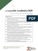 Producción Académica 2020