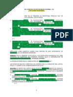 4.-MODELO DE MINUTA  CONSTITUCIÓN DE SOCIEDAD ANÓNIMA – S.A. CON APORTE DINERARIO