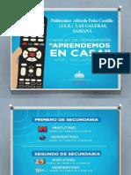 Presentación AÑO ESCOLAR 2020-2021