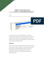 Crema Macril - Para Qué Sirve, Composición y Contraindicaciones