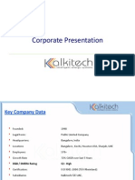 Kalkitech Corporate Presentation