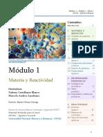 MÓDULO 1 QG-Materia y Reactividad