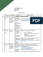 Cronograma EDC289