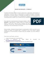 Orientações Sobre Projeto de Inovação - Turmas 2020