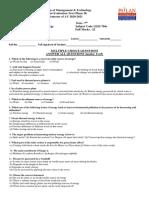 CA 2 (2021) MCQ Non Conventional EEE7
