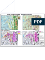 Lewis Creek Watershed Physical Characteristics Map