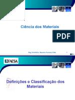 Aula 0 Ciencia dos materiais