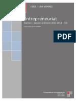 Examen 2013-2014 - Entrepreneuriat