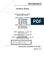 ARMY TM 9-2320-266-24 Mantainance Manual Dodge M880 1-¼ TON 4X4 JAN76