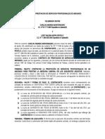 CONTRATO DE PRESTACION DE SERVICIOS PROFESIONALES DE ABOGADO CARLOS MONTENEGRO