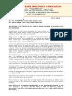 AIBEA PRESS RELEASE 30 5 18  bank  strike today