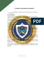 CRITERIOS E INDICADORES DE EVALUACIÓN
