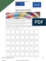 Tabla de códigos Pantone, CMYK y RGB - Logorapid