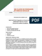 PROGRAMA Sem2067