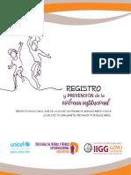 UNICEF ARG Registro y Prevención de La Violencia Institucional