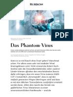 COVID19 - SARS CoV-2 - Das Phantom-Virus - Rubikon