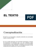 EL TEXTO (Tipologias-estructuras)