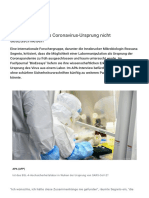 nCoV - VT - 2021-01-14 - Forscher - Labor als Coronavirus-Ursprung nicht auszuschließen
