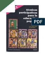 TECNICAS PARTICIPATIVAS PARA LA EDUCACIÓN POPULAR (TOMO II)