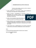 TALLE N° 1  NTP ISO 17020 2012