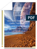 Geologia Sobre La Mina Tarmatambo
