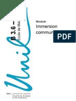 Ecole de Médecine. Module. Immersion communautaire B