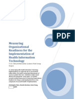 Measuring Organizational Readiness for the Implementation of Health Information Technology