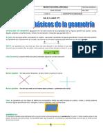 Guia elementos básicos de la geometría  Matemáticas