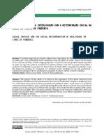 SERVIÇO SOCIAL E A INTERLOCUÇÃO COM A DETERMINAÇÃO SOCIAL NASAÚDE EM TEMPOS DE PANDEMIA