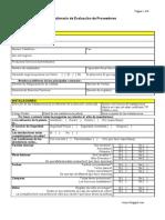 Cuestionario de Evaluacion de Proveedores