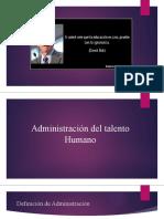 1. Fundamentos de la administraciòn de talento humano