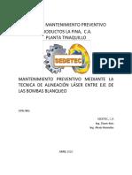 Informe  Alineaciones Bombas Blanqueo - Abril 2020