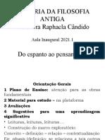 aula inaugural filosofia antiga 2021.1